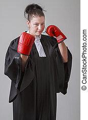 gardetroepen, op, advocaat