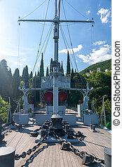 gardone, riviera, lago, garda, italia, -, poder, 05, 2014,...