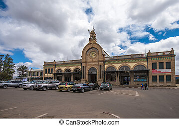 Gare de Soarano, railroad station of Antananrivo, Madagascar