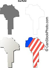 Garfield County, Washington outline map set