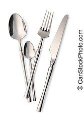 garfo, cutelaria, jogo, faca, colher
