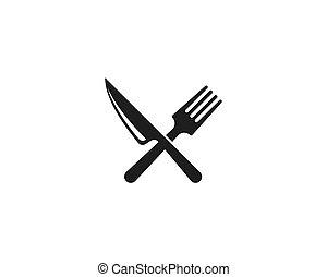 garfo, faca, colher, ícone