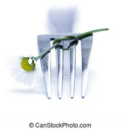 garfo, flor