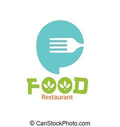 garfo, restaurante, alimento, imagem, vetorial, fundo, logotipo