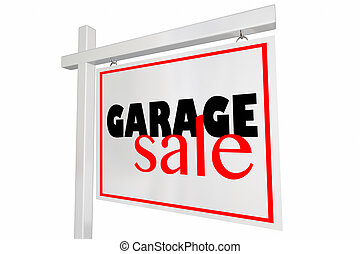 Gargae Sale Rummage Event Home Sign Advertising