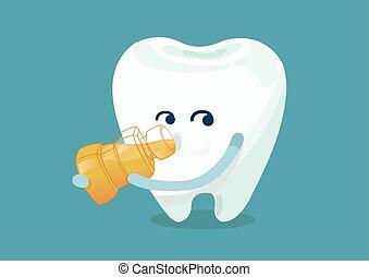 gargle, dente