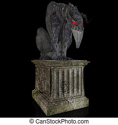 Gargoyle #02 - A nightmare made out of stone is sitting on a...