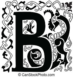 gargoyle capital letter B