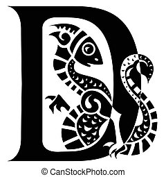 gargoyle capital letter D