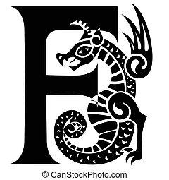 gargoyle capital letter F