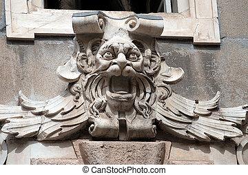 Gargoyle Head - Palazzo Tursi Genova - Ancient grotesque...