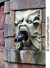 Gargoyle in Stockholm - on the fountain in front of the...