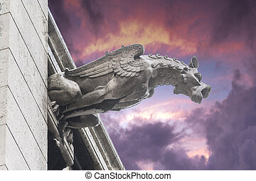 Gargoyle of Notre Dame cathedral - Gargoyles of Notre Dame...