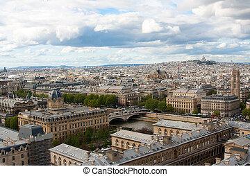 gargulec, notre, paryż, francja, katedra, dama