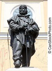garibaldi, イタリア, parma, statue., giuseppe, 銅