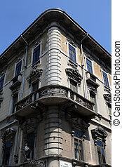 garibaldi, keresztül, olaszország, épület, parma, utca, emilia, romagna