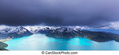 Garibaldi lake - Hike on Garibaldi Lake near Whistler, BC,...