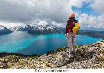 Garibaldi lake - Hike on Garibaldi Lake near Whistler, BC, ...