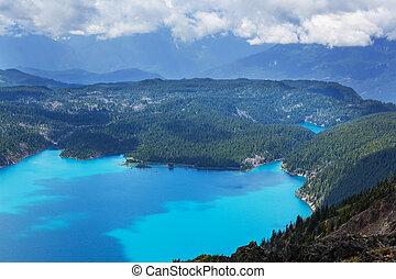 Garibaldi lake - Hike to turquoise Garibaldi Lake near...