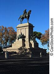 Garibaldi memorial statue in Rome, Italy