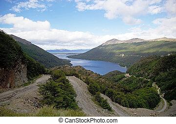 Garibaldi Pass in the Eastern half of Tierra del Fuego, Argentina