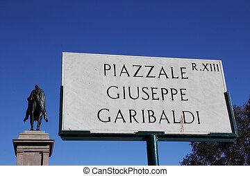 Garibaldi square on Janiculum hill - Garibaldi square and ...
