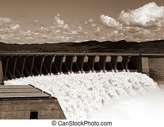 Gariep Dam overflow