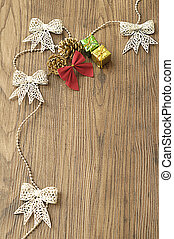 Garland and christmas decorations