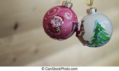 garland., arrière-plan., decoration., arbre, clignotant, brouillé, lumières, bokeh, année, nouveau, vacances, noël, twinkling.