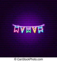 Garland Flags Neon Sign