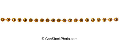Garland - Gold beads garland isolated on white background