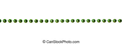 Garland - Green beads garland isolated on white background