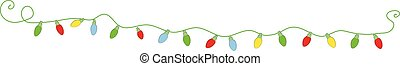 garland - The garland. Multi-colored lights. The christmas...