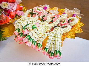 garland jasmine / colorful of garland flower thai