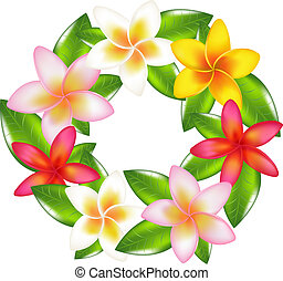 Garland Of Fragipani - Garland Of Colorful Fragipani,...