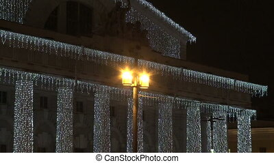 Garland on the street - Christmas garland on the street in...
