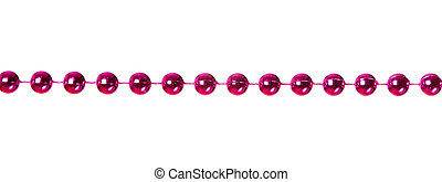 Garland - Pink beads garland isolated on white background
