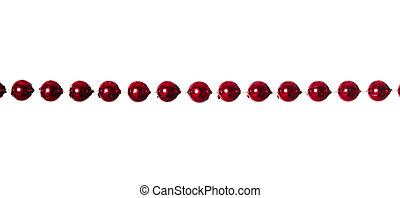 Garland - Red beads garland isolated on white background