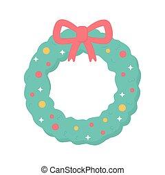 garland ribbon lights snow merry christmas