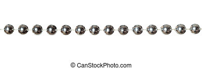 Garland - Silver beads garland isolated on white background
