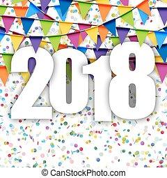garlands background New Year 2018