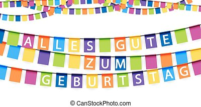 garlands for birthday - colored garlands background with...