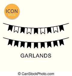 Garlands icon isolated flat style.
