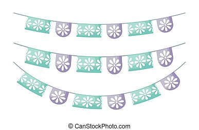 garlands mexican hanging isolated icon