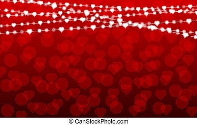 garlands on the background to the day of saint valentine