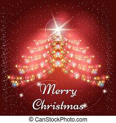 garlands, x-mas, boompje, kerstmis, achtergrond