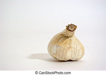 Garlic. A head of garlic isolated on a white background