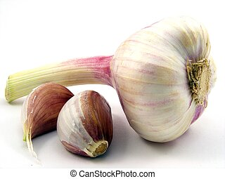 Garlic - A selection of garlic cloves & bulb