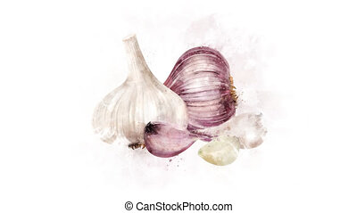 Garlic Animation on the alpha channel - A beautiful animated...