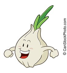 Garlic Cartoon Character